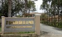 UBND xã Xà Phiên nơi ông Hận công tác