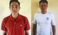 Phan Dũng và Nguyễn Văn Uần lúc bị bắt