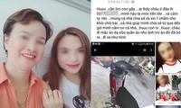 Nạn nhân cùng mẹ Trần Thị Hiền