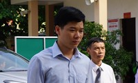 Bị cáo Hoàng Công Lương tại phiên tòa sáng nay