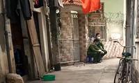 Nhà riêng của nữ tiếp viên này tại Khương Trung đã được phong tỏa. Ảnh: Duy Phạm