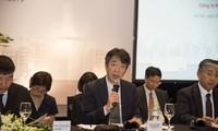 Tân Tổng Giám đốc Keisuke Tsuruzono trả lời câu hỏi trong buổi lễ tổng kết năm tài chính 2019 của Honda Việt Nam.