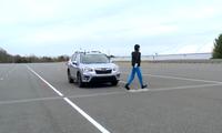 Đánh giá phanh tự động tránh người đi bộ sang đường trên SUV