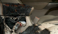 Cháy ôtô do pin iPhone tự nổ bên trong khoang cabin