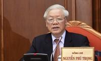 Hình ảnh bế mạc Hội nghị lần thứ 12 Ban Chấp hành Trung ương Đảng