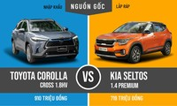 So găng 2 bản cao nhất của Toyota Corolla Cross và Kia Seltos