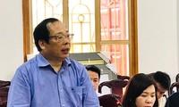 PGS. TS Lưu Văn An phát biểu trong buổi làm việc tại Yên Bái ngày 10/4. Ảnh: HVBCTT