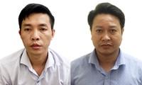 Nguyễn Khắc Tuấn (bên phải) và Đỗ Mạnh Tuấn - ảnh công an cung cấp