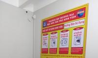 Hệ thống máy giặt phục vụ sinh viên trong KTX của trường ĐH Thương mại