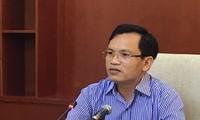 Ông Mai Văn Trinh, Cục trưởng Cục Quản lý chất lượng, Bộ GD&ĐT trả lời báo chí về gian lận thi ở Hòa Bình năm 2018.