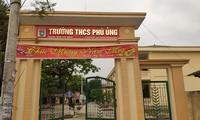 Trường THCS Phù Ủng nơi xảy ra vụ việc.
