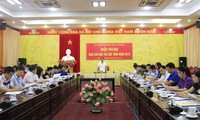 Ông Nguyễn Văn Sơn, trưởng ban chỉ đạo thi tỉnh Hà Giang tại cuộc họp ban chỉ đạo thi của tỉnh vừa qua - báo Hà Giang
