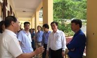 Đoàn công tác của Bộ GD&ĐT do Thứ trưởng Nguyễn Hữu Độ dẫn đầu kiểm tra thực tế công tác chuẩn bị thi tại điểm thi trường THPT Thảo Nguyên, Mộc Châu, Sơn La