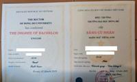 Hủy kết quả người học dùng văn bằng 2 ngôn ngữ Anh của đại học Đông Đô