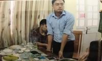 Lê Duy Phong bị bắt cùng tang vật.