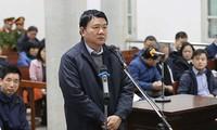 Bị cáo Đinh La Thăng tại tòa Hà Nội.