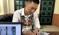 Bùi Xuân Huấn làm việc với cơ quan chức năng.
