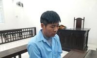 Bị cáo Trần Huy Bình tại tòa.