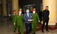 Bị cáo Trịnh Xuân Thanh tại tòa án Hà Nội vào tháng 1/2021.