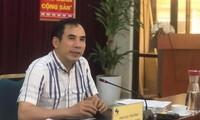 Ông Nguyễn Văn Bảy, Phó Cục trưởng Cục Sở hữu trí tuệ chia sẻ việc bảo hộ gạo ST25 chiều nay (23/4). Ảnh: Nguyễn Hoài.