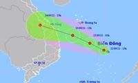 Dự báo đường đi của vùng áp thấp có khả năng mạnh lên thành áp thấp nhiệt đới.