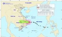 Dự báo đường đi và vùng ảnh hưởng của bão số 5.