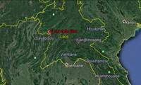 Vị trí xảy ra trận động đất 6,1 độ richter lúc 6h50 phút sáng nay tại Lào.