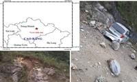 Tâm chấn trận động đất lúc 6h49 phút sáng nay tại huyện Trùng Khánh, Cao Bằng (ảnh nhỏ)