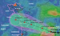 Bão số 5 hướng về Quảng Bình – Đà Nẵng, miền Trung mưa lớn từ chiều mai