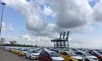 Hàng loạt ô tô mới nhập khẩu về Việt Nam qua cảng biển TP.HCM tháng 5/2019