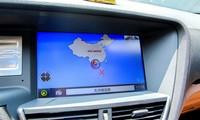 """Bản đồ có """"đường lưỡi bò"""" trên mẫu Zotye Z8 trưng bày tại đại lý của công ty Kylin-GX668"""