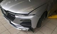 Hình ảnh chiếc xe VinFast Lux 2.0 bị tai nạn