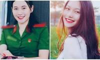 Nữ sinh Học viện Cảnh sát với tình yêu bộ quân phục màu xanh lá
