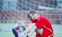 Nữ sinh xinh đẹp tân sinh viên Trường Đại học Thủy lợi với đam mê trái bóng tròn
