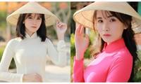 Nữ sinh 'xứ sở thanh long' hạnh phúc mỗi khi diện áo dài truyền thống Việt Nam