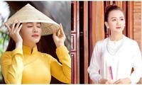 Theo trend 'mợ 2', Ngọc Thiện khoe vẻ đẹp đằm thắm trong bộ đồ bà ba
