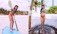 Mới 12 tuổi nhưng con gái Trương Ngọc Ánh đã có vóc dáng siêu mẫu, chân dài miên man