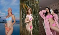 Mỹ nhân V-biz đua nhau diện bikini siêu nhỏ: Bé đến mức chỉ che được vùng nhạy cảm