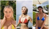 Tóc Tiên, Kinsey Wolanski, Bojana lăng xê áo bikini siêu bé, khuôn ngực đầy chực trào ra