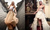 Nhà thiết kế Pháp 'biến' sách cũ thành váy dạ hội kiêu sa