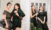 Ngọc Hân cùng Á hậu Trà My, Thanh Tú rủ nhau mua váy gây quỹ ủng hộ miền Trung
