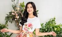 Cùng Hoa hậu Đỗ Thị Hà chọn một bộ váy hoa cho mùa Xuân thêm rực rỡ
