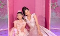 """Á hậu Thúy An hóa thân thành búp bê Barbie khi chấm thi """"Siêu mẫu nhí"""""""