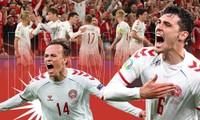 """Chỉ bằng một trận vùi dập Nga 4-1, đội tuyển Đan Mạch đã ghi dấu nhiều sự kiện """"đầu tiên"""""""