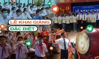 Teen Thái Bình háo hức tới trường dự lễ khai giảng đặc biệt, tổ chức trong phạm vi lớp học