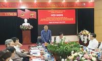 Ông Vũ Đức Bảo, Trưởng ban Tổ chức Thành ủy Hà Nội phát biểu tại hội nghị. Ảnh: Trường Phong