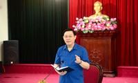 Bí thư Thành ủy Hà Nội Vương Đình Huệ kết luận cuộc làm việc