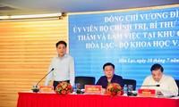 Chủ tịch UBND thành phố Hà Nội chỉ đạo đấu nối ngay nước sạch cho Khu công nghệ cao Hòa Lạc
