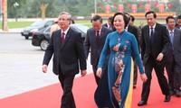 Thường trực Ban Bí thư Trần Quốc Vượng dự Đại hội Đảng bộ Yên Bái