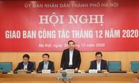 Chủ tịch UBND thành phố Hà Nội Chu Ngọc Anh phát biểu tại hội nghị